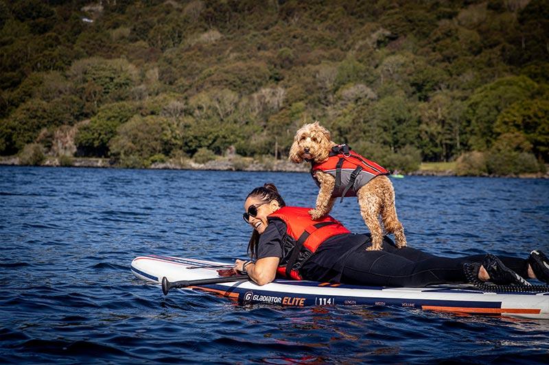 Reggie and Suzanne Llanberis Lake Gladiator SUP